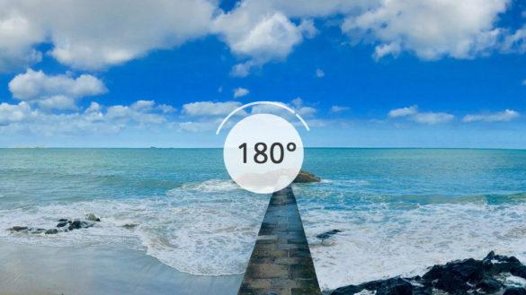 Plage du Sillon en 180°