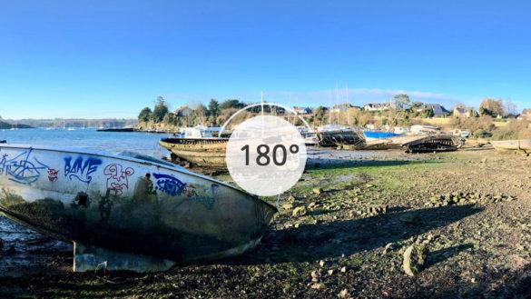 Cimetière de bateaux en 180°