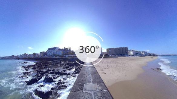 Plage du Sillon en 360°