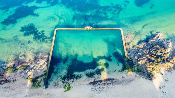 Piscine naturelle d'eau de mer
